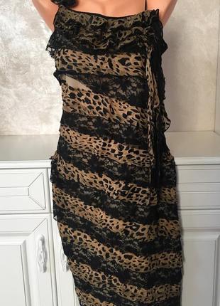 Нарядное платье в принт на одно плечо