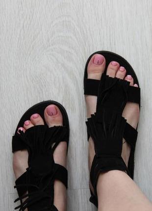 Замшевые босоножки / сандалии гладиаторы topshop