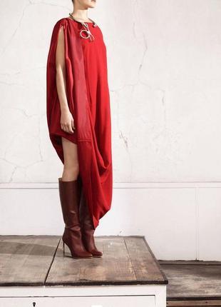 Красное платье maison martin margiela x h&m