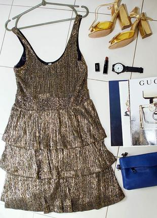 Блестящее платье h&m размер  s-m