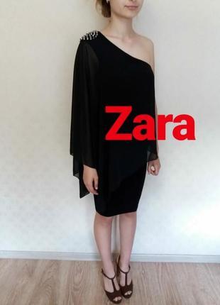 Вечернее платье на одно плечо zara