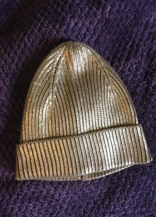 Супер шапка золотая zara