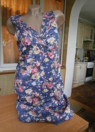Стильное платье-сарафан/ 100 % котон