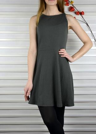 Красивое платье в рубчик topshop