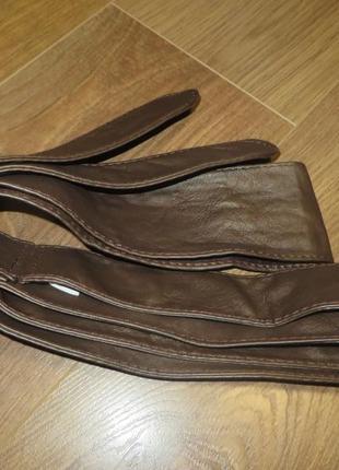 Пояс bershka два кольори коричневий та бежевий