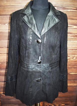 Нарядная замшевая куртка с декором турция,новая,распродажа