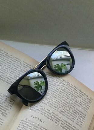 Солнцезащитные очки солнечные очки черные зеркальные