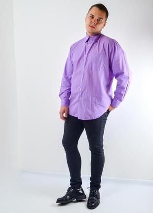 Balmain сиреневая винтажная рубашка классического кроя с узором, сорочка