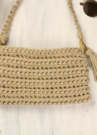 Тренд 2018! сумочка ручной работы из трикотажной пряжи.