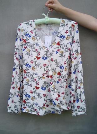 Блуза с ярким принтом р. s-m.