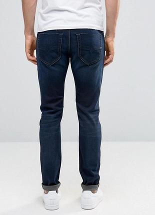 Зауженные джинсы темного цвета индиго diesel tepphar