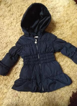 Пуховое пальто-курточка для девочки 12мес.