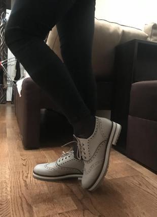 Туфли эко кожа бежевые