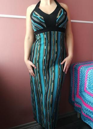 Длинное платье вязаное ( м-ка )- 10 размера