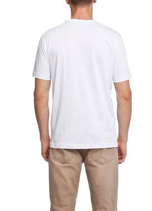Мужская футболка lc waikiki /лс вайкики с надписью на груди south blue- фирменная турция3 фото