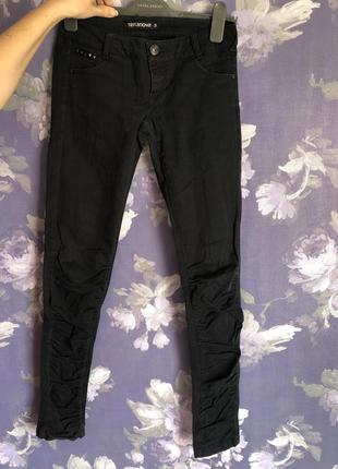 Чёрные штаны terranova s размер