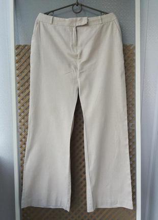 Легкие летние льняные брюки