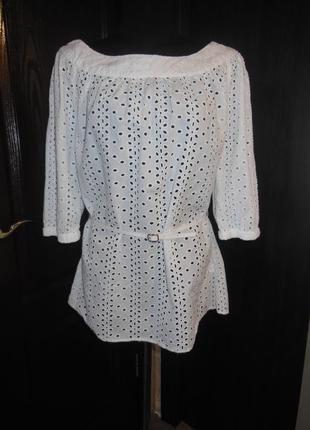 Летняя блуза прошва 100% котон
