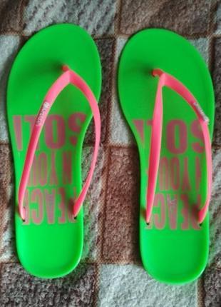 Тапочки шлепки пляжные 38-39 р. силиконовые