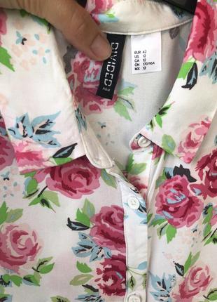 Летняя рубашка с коротким рукавом h&m4 фото