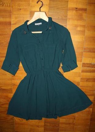 Платье цвета морской волны от bershka