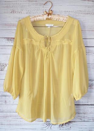 Блуза легкая шифоновая свободного кроя