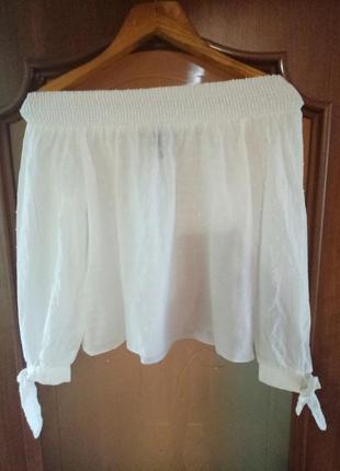 Блузка біла блуза белая new look
