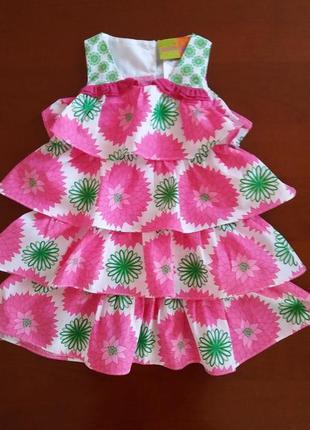 Нарядное фирменное платье penelope(сша) на 2 года
