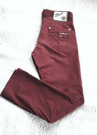 Необычные джинсы брюки чинос р.29 турция унисекс высокая посадка stright legs