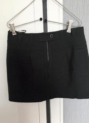 Фирменная мини юбка на замке 14 размер