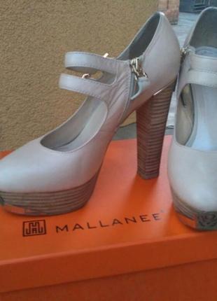 Женские туфли фирмы mallanee кожаные