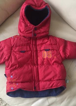 Демисезонная осенняя зимняя куртка курточка на мальчика 6-9 рост 68 74