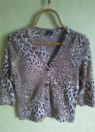 Коротенькая леопардовая кофта castro