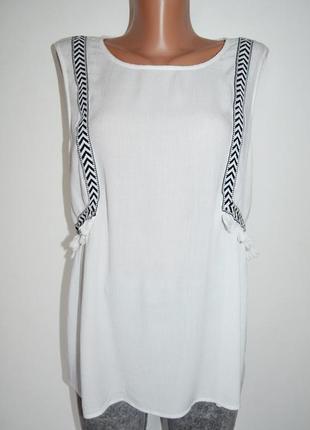 Оригинальная блуза, топ, майка с кисточками f&f