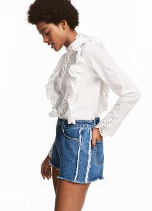 Блуза с кружевом 100% котон