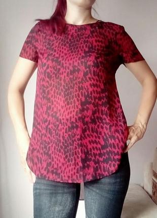 Блуза красная разрезы new look 12 38