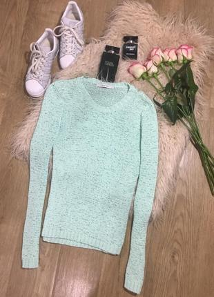 Бирюзовый свитер s