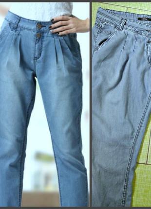 Летние джинсы со складками, 100% хлопок