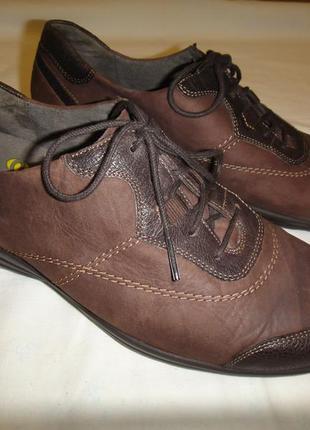 Кожаные мокасины туфли ботинки durea р. 40-41 стелька 26см голландия