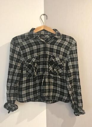 Рубашка в клетку лимитрованая коллекция marks&spencer