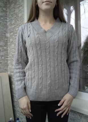 Теплый базовый свитер кофта ralph lauren