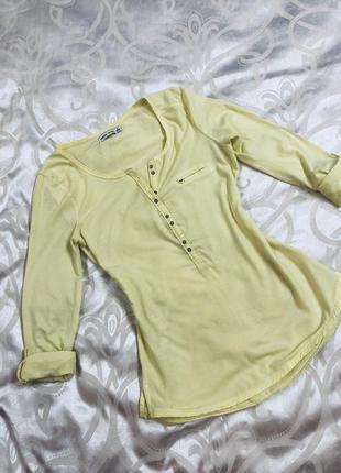 Футболка / кофточка / блузка лимонного цвета bershka
