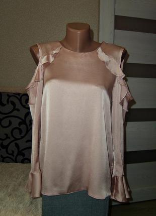 Красивая пудровая блуза dhorothy perkins,