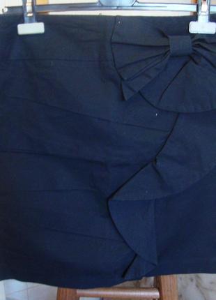 Юбка темно-синяя orsay польша 38 m 97%котон, 3%эластан