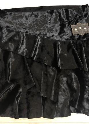 Бархатная/ велюровая юбка  хс-с