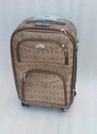 Чемодан, валіза, дорожный чемодан, тканевый, средний