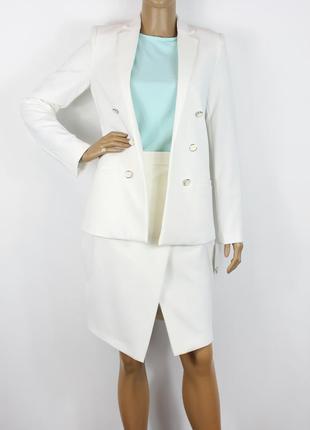 Новый белый пиджак mango
