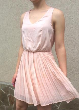 Ніжне пудрове плаття pimkie, нежное пудровое платье