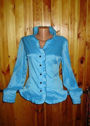 Красивая стрейчевая блуза размера xl/48 размера /батал