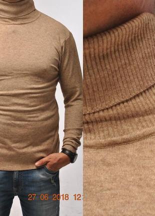 Мужской свитер-гольф,как вторая кожа. фабричная италия